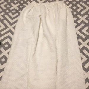 White Polka Dot Full Length Skirt